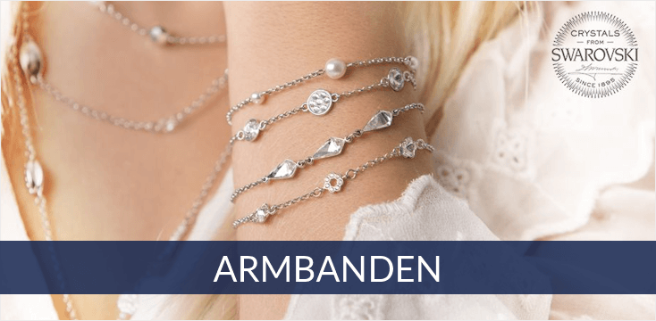 Spark - zilveren armbanden met Swarovski