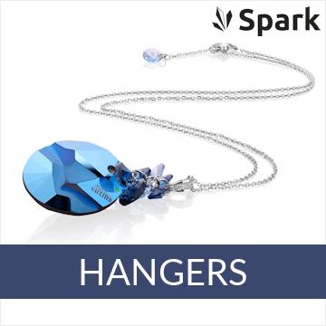 Spark - zilveren colliers met Swarovski hanger