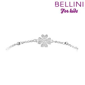 Bellini 573.032 - Zilveren Bellini armband bloem met zirkonia's