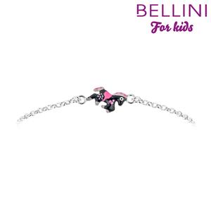 Bellini 573.019 - Zilveren Bellini armband met zwart emaille paardje