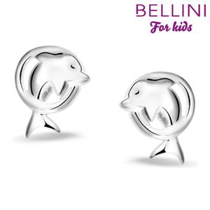 Bellini 575.013 - zilveren kinder oorbellen dolfijn
