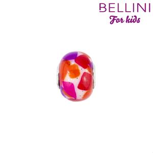 Bellini 561.507 - glasbedel oranje/paars/wit met glitter