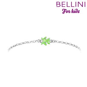 Bellini 573.020 - Zilveren Bellini armband met groen emaille kikker