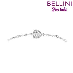 Bellini 573.030 - Zilveren Bellini armband hartje met zirkonia's