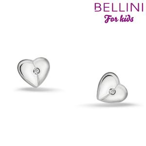 Bellini 575.026 - zilveren kinder oorbellen hartje