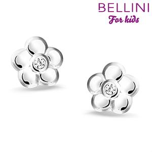 Bellini 575.014 - zilveren kinder oorbellen bloem