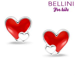 Bellini 575.019 - zilveren kinder oorbellen hartje