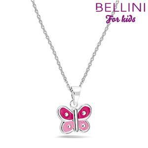 Bellini 574.011 - zilveren kinder collier met hanger vlinder