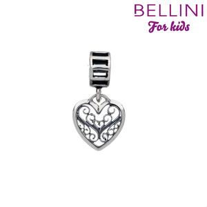 Bellini 568.010 -Zilveren Bellini bedel hangend hartje