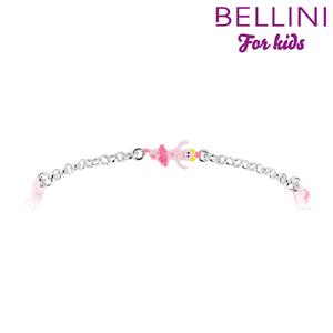 Bellini 573.021 - Zilveren Bellini armband met emaille ballerina, balletschoen en roze ster