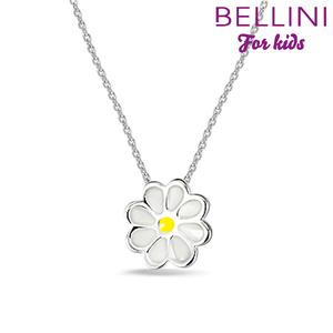 Bellini 574.012 - zilveren kinder collier met hanger bloem