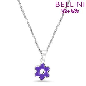 Bellini 574.017 - zilveren kinder collier met hanger bloem