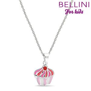 Bellini 574.010 - zilveren kinder collier met hanger cupcake